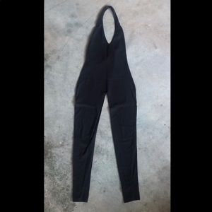 American Apparel Halter Top Unitard Black Size XS